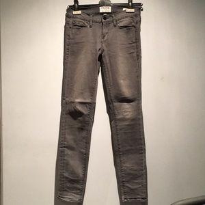 Frame Gray Skinny Jeans Size 26